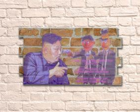 Brick Wall Artwork. Bert and Ernie Pulp Fiction.