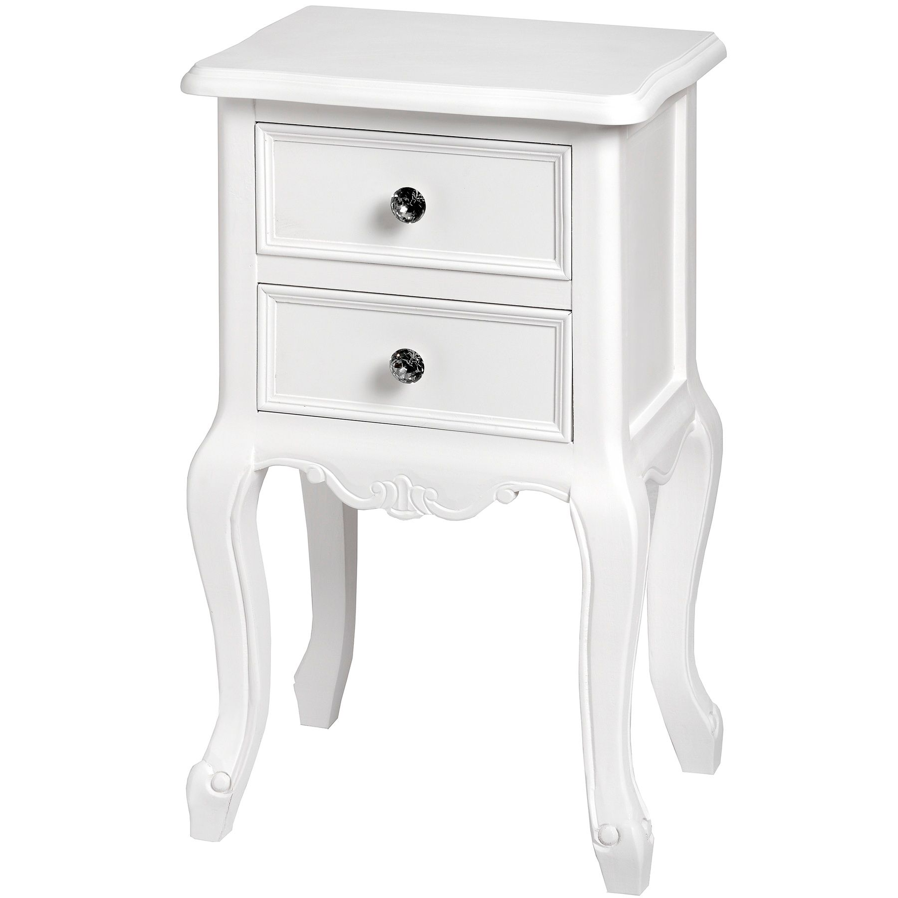 Venice Range Bedside Lamp Table In Rustic White