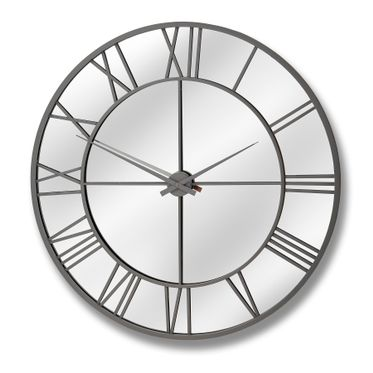 XL Outdoor Mirrored Wall Clock.