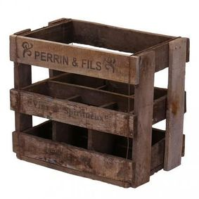Vintage display wine crate. Perrin & Fills