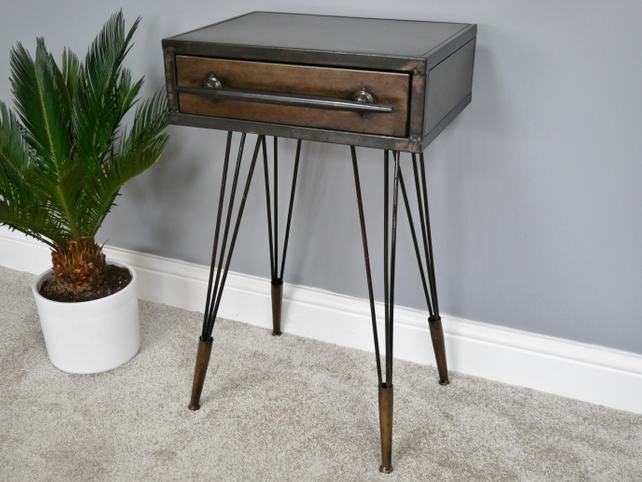 Loft: Industrial side table.