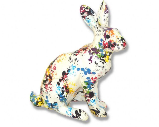Paint splash Hare art piece.