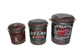 Metal storage Stools / container. Athletics