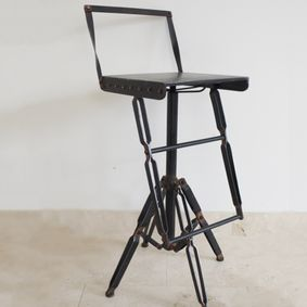 Industrial style metal Bar Chair.